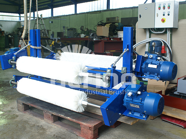 Conveyor Cleaning mechanism with plastic brushes 1