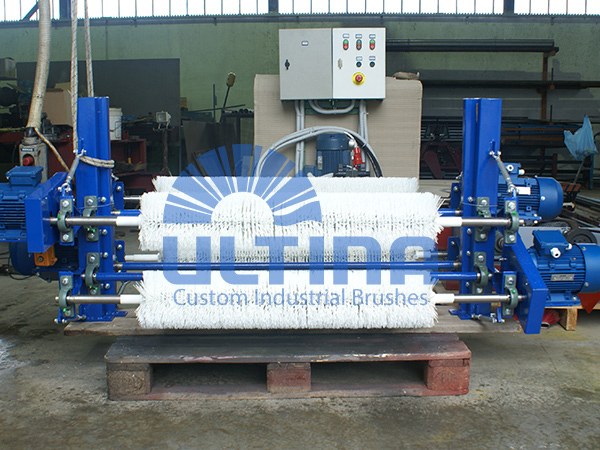 Conveyor Cleaning mechanism with plastic brushes 2