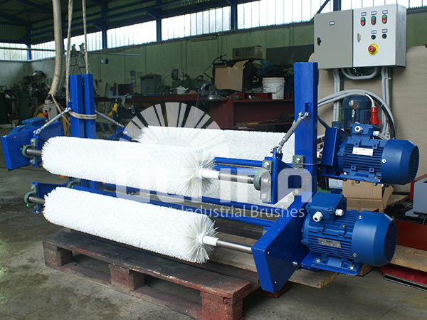 Conveyor Cleaning mechanism with plastic brushes 4